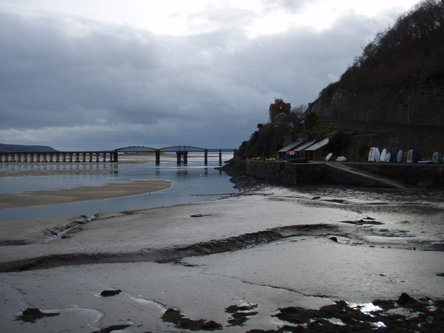 Barmouth Bridge from Aberamffra Harbour