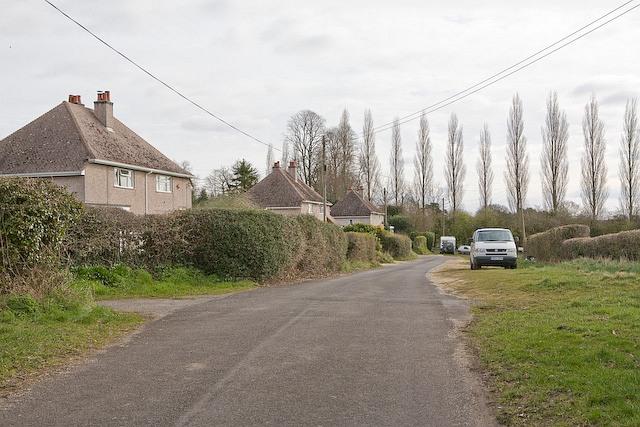 Eastern end of Church Lane, Plaitford