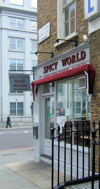 Spicy World, Gillingham Street junction of Vauxhall Bridge Road, London SW1