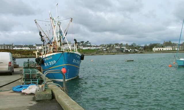 Isle of Whithorn Harbour at High Tide