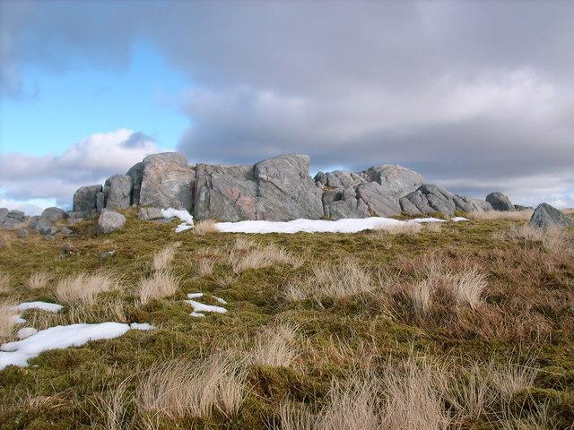 Summit rocks of Na h-Uamhachan