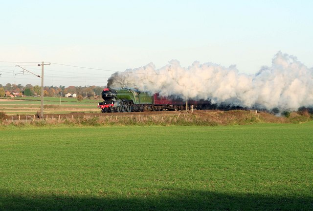 Steam on the ECML nr Eaton Wood