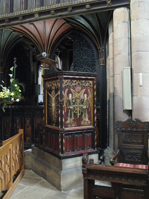 The pulpit, Hexham Abbey