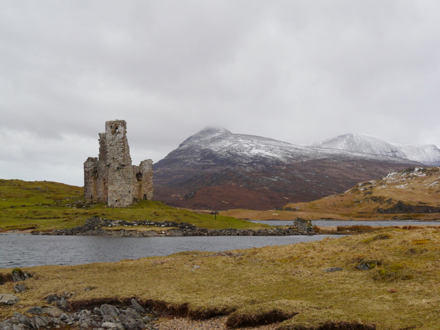 Ardvreck Castle, on Loch Assynt