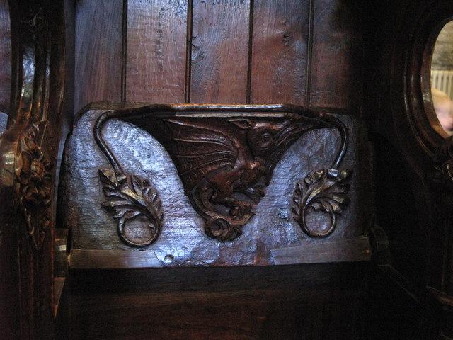 15th C misericord in The Choir, Hexham Abbey (4)