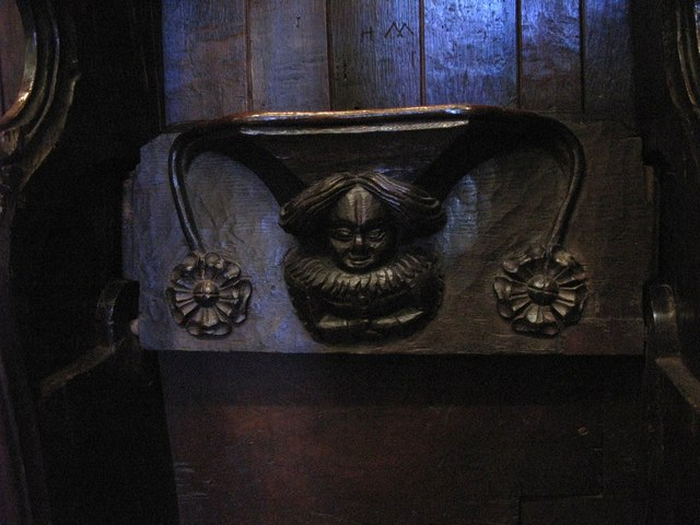 15th C misericord in The Choir, Hexham Abbey (8)
