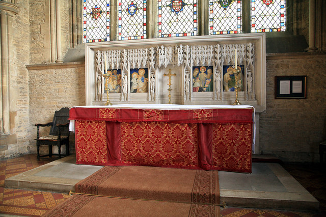Magdalen College School, Brackley, Northants - the altar of the chapel of St James