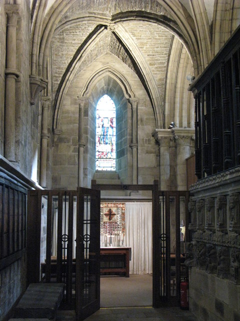 St Wilfrid's Chapel, North Choir Aisle, Hexham Abbey