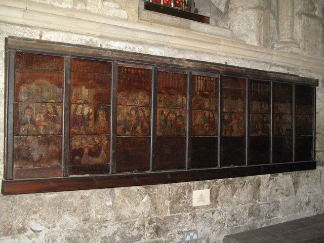 15th C pictures of The Passion, North Choir Aisle, Hexham Abbey