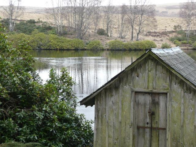 Boathouse on fishing lochan
