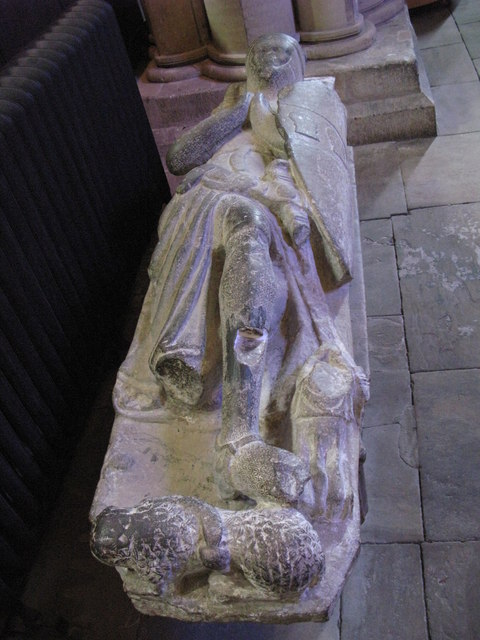 14th C Monument, North Choir Aisle, Hexham Abbey