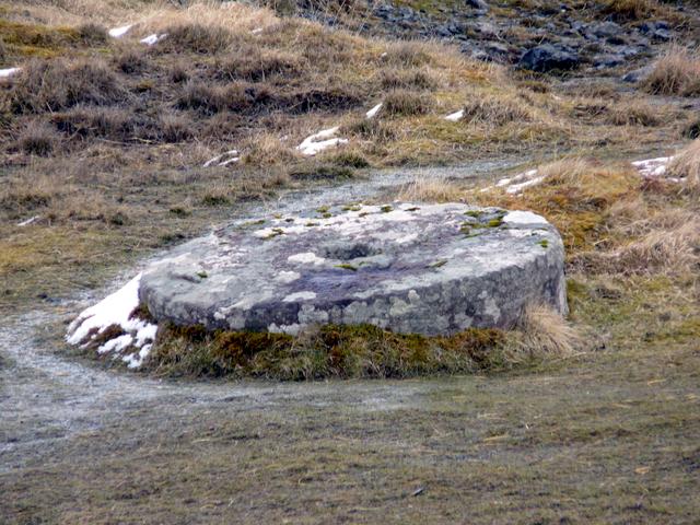 19th century crushing stone.