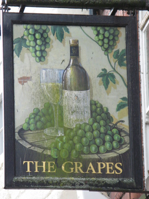 Sign for The Grapes