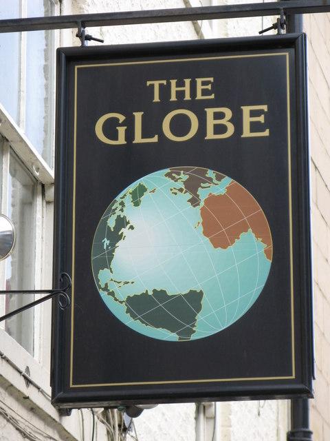 Sign for the Globe Inn