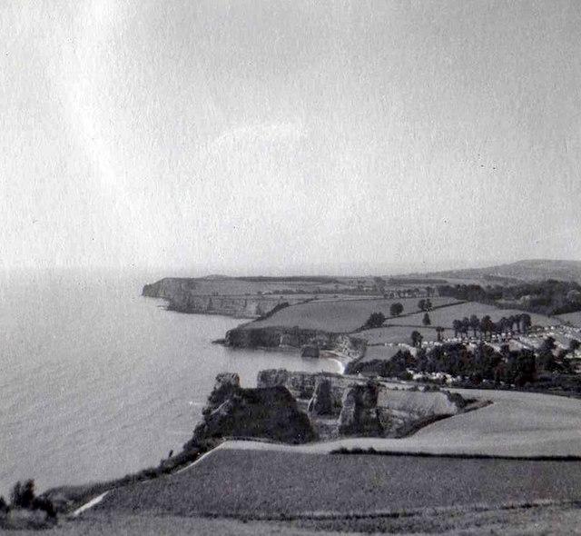 Hern Point Rock, near Sidmouth, Devon taken 1959