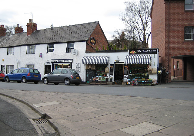 Independent retailers in Mill Street, Hereford