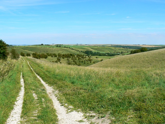 Bridleway to Little Cheverell, near Fore Hill
