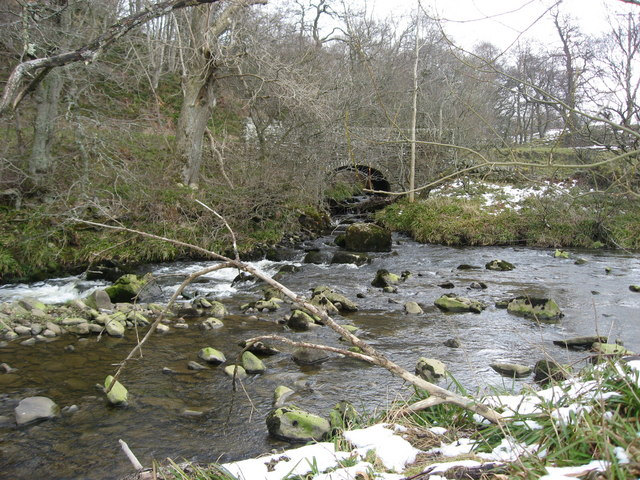 The confluence of the River East Allen and Sinderhope Burn