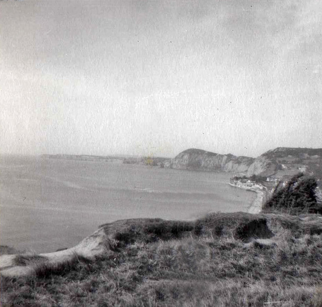 Cliff top, Salcombe Hill, Sidmouth, Devon taken 1959