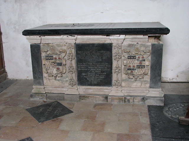 The church of St Lawrence - tomb chest