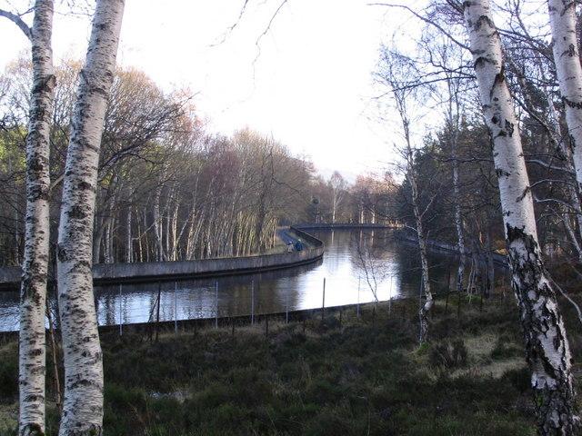 Aqueduct leading to Tummel Bridge power station