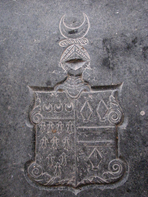 The church of St Lawrence - tomb slab detail