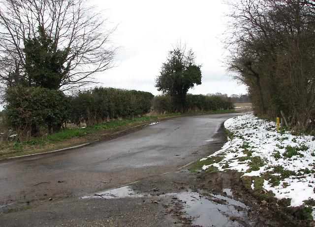 Turn-off towards Barton Road