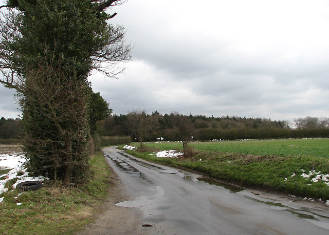 View towards junction with the A151