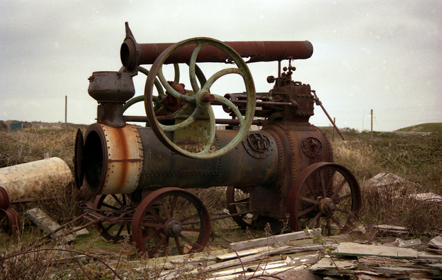Portable engine on the Bill of Portland
