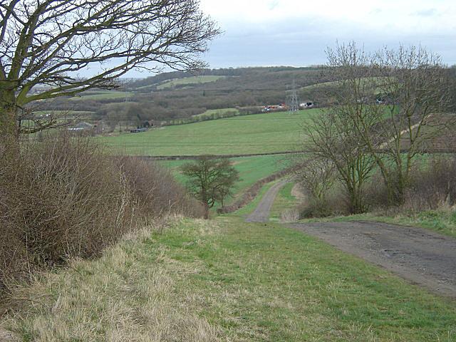 Soldiers Lane looking towards West Leake Hills