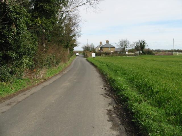 Looking NNe along Alland Grange Lane