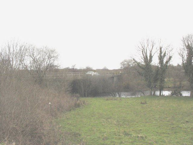 The Brynrefail bypass bridge over Afon Rhythallt