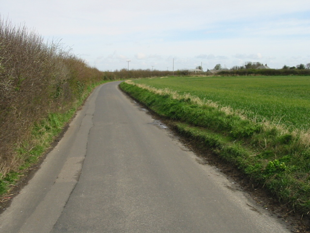 View along Alland Grange Lane