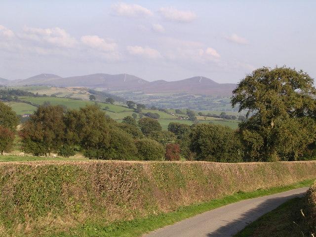 View above Gwyddelwern