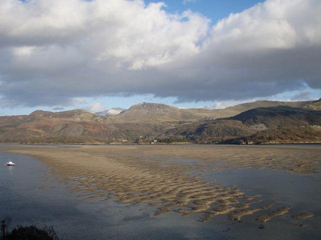 Mawddach Estuary with Tyrrau Mawr and Cader Idris distant