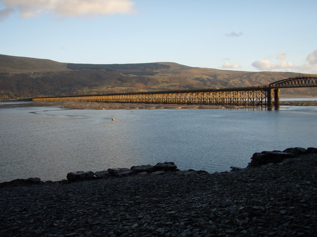 Barmouth's wooden railway bridge from the secret quay