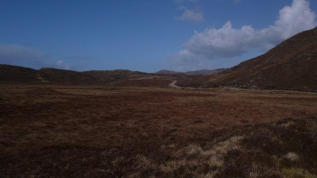 Road through volcanic centre