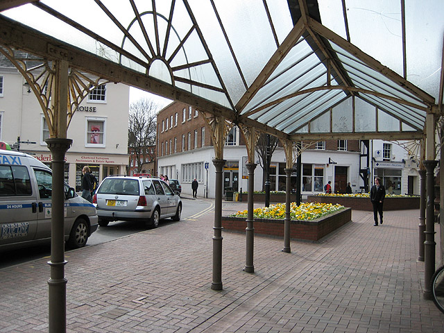 Taxi rank, St. Peter's Square, Hereford