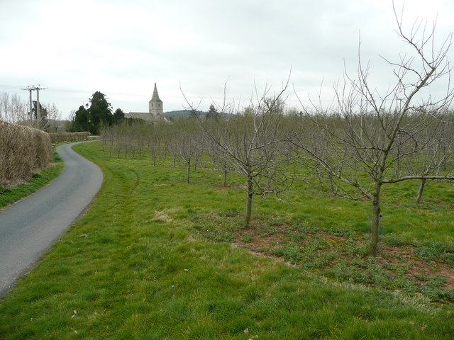 Church and orchards