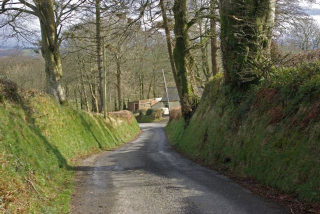 Down hill to Pont-faenog
