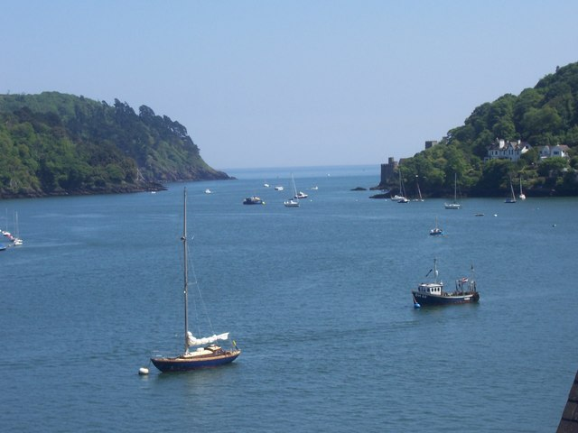 View of the mouth of the River Dart taken from Dartmouth