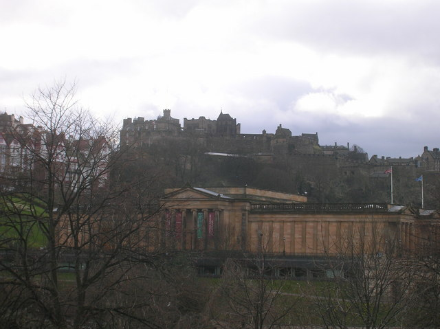 The National Gallery and Edinburgh Castle