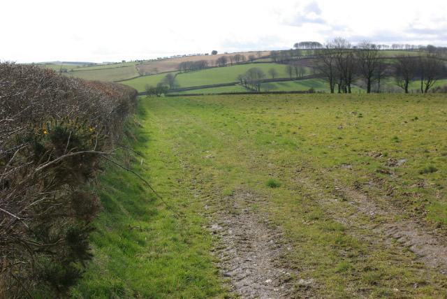 Farmland north of Troed-y-rhiw