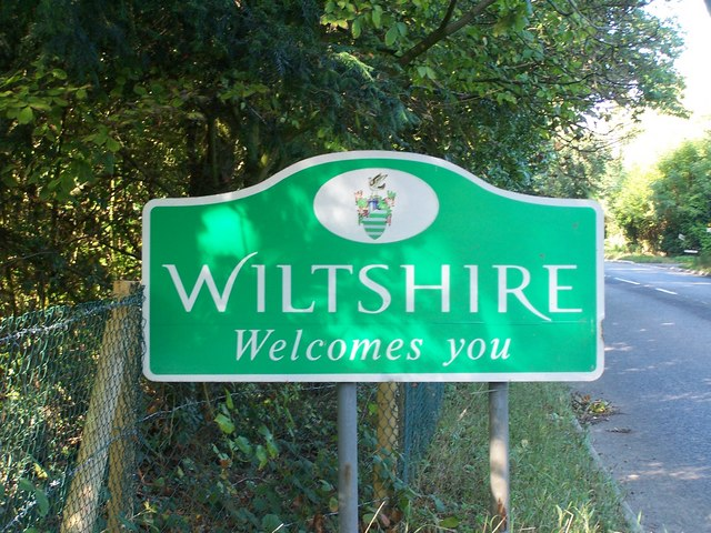 The Wiltshire border on the A27