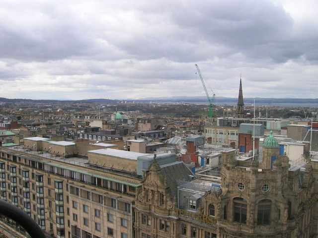 Edinburgh Rooftops looking North West on the Scott Monument
