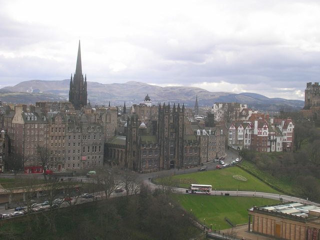 New College, Edinburgh and the Pentland Hills from Scott Monument