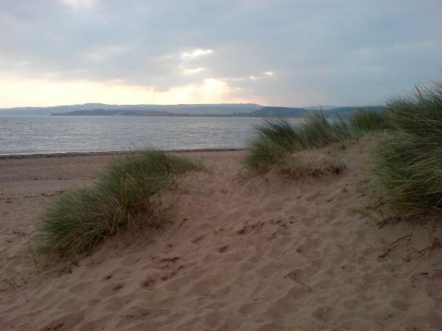 Sand dunes on Exmouth beach