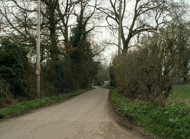 Baker's Lane near Gay Bowers Farm