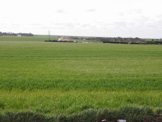 Lads Farm on Margate Hill seen from Manston Road