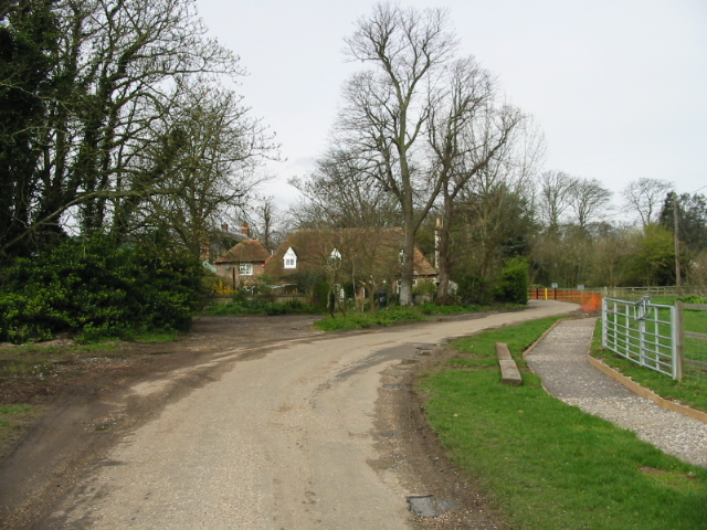 The road from Quex Park house